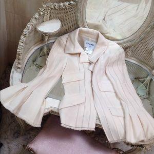 Chanel ivory cream jacket 38